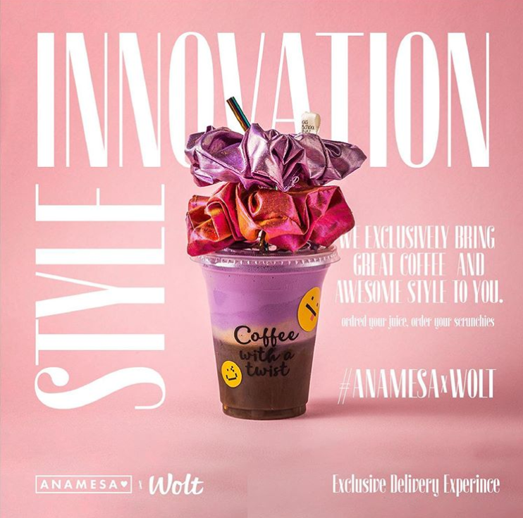 #ANAMESAxWolt Fashion & Coffee New Fashion Forward Delivery Service is ON.