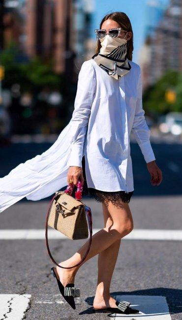 Olivia Palermo: Δημιουργεί chic looks επιλέγοντας μεταξωτά μαντήλια
