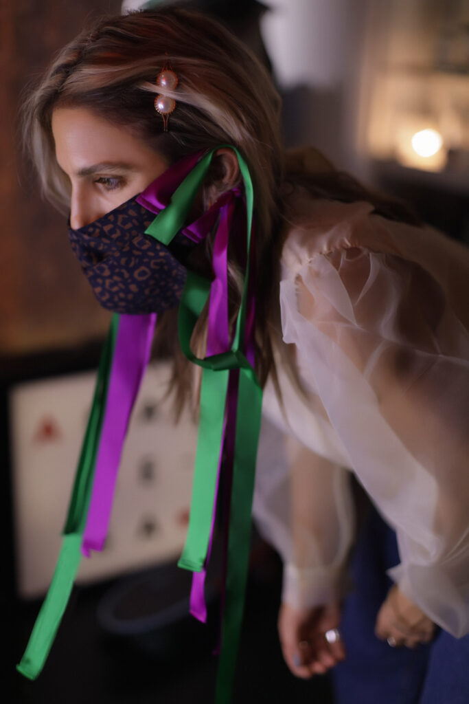 Rainbow style με layering από ribbon masks